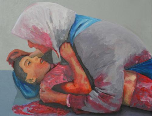 LA STRAGE DEGLI INNOCENTI Il senso dell'amore, 2018, acrilico su tela, 80 x 80 cm