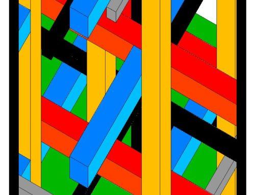 Omaggio a Mondrian, 2009, fine art su tela, 50 x 50 cm