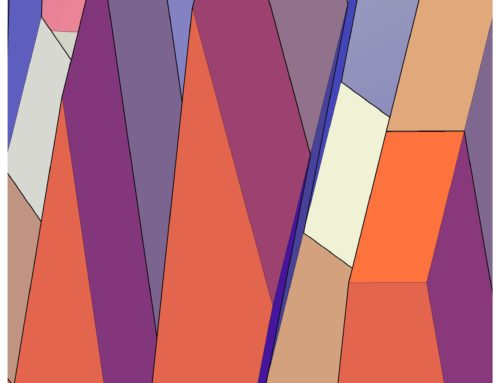 Stratificazioni, 2009, fine art su tela, 50 x 50 cm